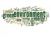 High resolution concept or conceptual abstract green environment and ecology and conservation word c