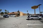 BARSTOW, CALIFORNIA - SUN. JUNE 29, 2014: A general exterior view of a Denny's restaurant in Barstow