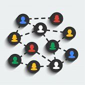 Social Network Vector Concept.