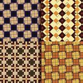 Retro square patterns background vector