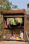 Typical Small Shop Selling Basic Products In Indian Villages.
