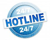 An image of a useful blue hotline button