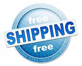 An image of a useful blue free shipping button