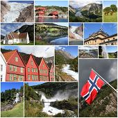 Постер, плакат: Norway Collage