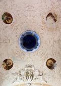 MONTEROSSO, ITALY - MAY 02: one of the Cinque Terre villages, UNESCO World Heritage Sites, Ceiling in the Oratory of the Dead, Monterosso al Mare, Cinque Terre, Liguria, Italy, on May 02, 2014