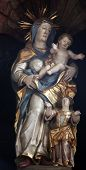 SCHMERLENBACH, GERMANY - JULY 19: Madonna with child Jesus, Sanctuary of St. Agatha in Schmerlenbach