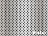 image of metal grate  - Vector eps concept conceptual gray metal stainless steel aluminum perforated pattern texture mesh background - JPG