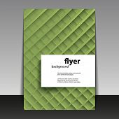 Flyer or Cover Design with Abstract Grid Lines Pattern