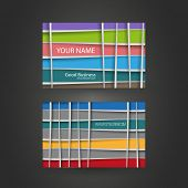 Colorful Business or Gift Card with Lines Pattern