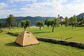 Camping near Schonbuhel Castle