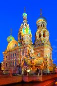 St.Petersburg,  Russia, Orthodox temple  Church of the Savior on Blood
