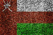 Oman Flag Color Grass Texture Background