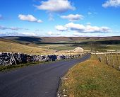 Country road, Yorkshire dales.