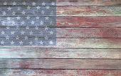 Vintage American Flag On A Barnside