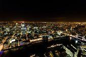 Aerial Panorama Of London At Night