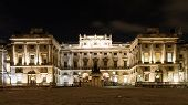 Illuminated Somerset House At Night