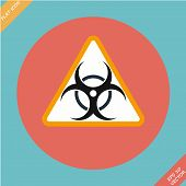 Warning symbol biohazard - vector illustration