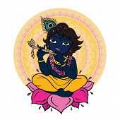 picture of lord krishna  - Hindu God Krishna - JPG