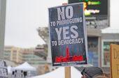 Anti-Vertagung rally Toronto 23. Januar 2010