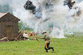 Village Under Explosion Attack