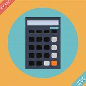 Calculator icon - vector illustration. Flat design
