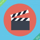 Film clap board cinema - vector illustration