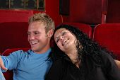 stock photo of matinee  - A couple at the movies - JPG