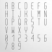 Vector Condensed Monospaced Light Font
