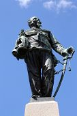 SANTA MARGHERITA TOWN, LIGURIA, ITALY - MAY 04: Monument to Vittorio Emanuele II, first king of a un