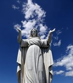 SANTA MARGHERITA TOWN, LIGURIA, ITALY - MAY 04: Statue of St. Margaret, patron of the city after whi