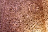 Alhambra Courtyard Moorish Wall Designs Granada Andalusia Spain