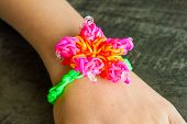 Colorful Rainbow Loom Bracelet Rubber Bands Fashion