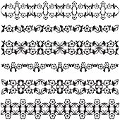 Ottoman Motifs Black Design Series Of Fifty Seven
