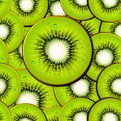 Kiwi Slices Seamless Background