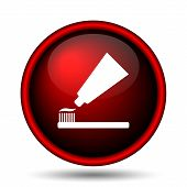 foto of bristle brush  - Tooth paste and brush icon - JPG