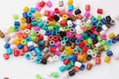 Array of coloured beads