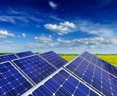 Solar power generation technology, green alternative energy and environment protection ecology busin