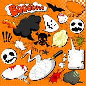 Halloween Comic speech bubbles for your design