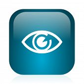 eye blue glossy internet icon