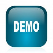 demo blue glossy internet icon