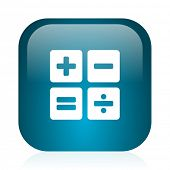 calculator blue glossy internet icon