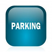 parking blue glossy internet icon