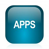 apps blue glossy internet icon
