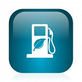 biofuel blue glossy internet icon