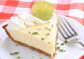 Key Lime Pie Closeup