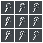 Magnifier Icon Set