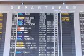Changi Airport departure timetable Singapore