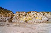Nisyros volcano wall