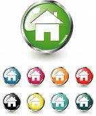 Home icon vector set