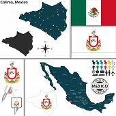 Map Of Colima, Mexico